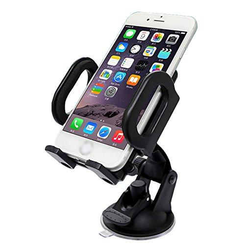 iMinker Pare-brise universel kit voiture Support de téléphone portable avec large ventouse pour iPhone 7 / 6s / 6 plus 5s 5 se, Samsung Galaxy S7 / S6 bord S5 S4 (Ventouse)