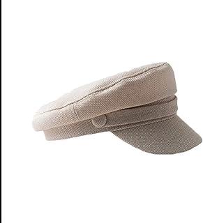 100% Cotton Plain Newsboy Hat Cap for Women Newsboy Cap for Women Spring Summer Thin Cotton Linen Visor Hat,White