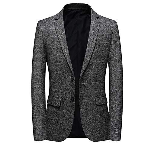Mr.BaoLong&Miss.GO Autumn and Winter Mens Plus Size Suit Plaid Suit Mens Business Suit European Size Mens Suit Jacket