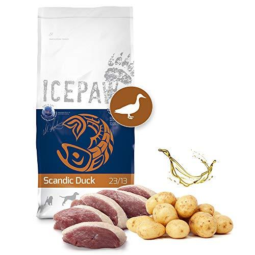 ICEPAW I High Premium Trockenfutter für Hunde I Scandic Duck 14 kg I Mit Ente und Kartoffel I getreidefrei I Adult