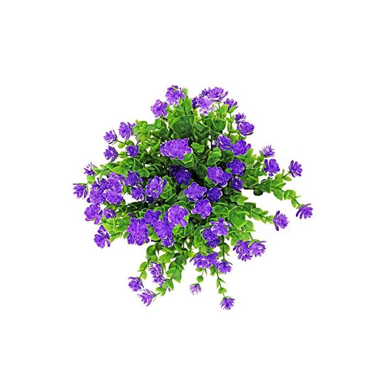 silk flower arrangements lsme artificial flowers outdoor uv resistant greenery shrubs for home hanging basket wedding venue decor 4 bouquet
