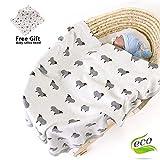 Odot Manta de Punto para Bebé Recién Nacido, Estampado de Animales Algodón...