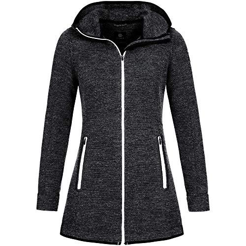 GIESSWEIN Walk Jacke Samira - atmungsaktive Damen Jacke aus 100% Merinowolle, Woll-Filz Merino Bekleidung, Sportbekleidung für Frauen, leicht und temperaturregulierend
