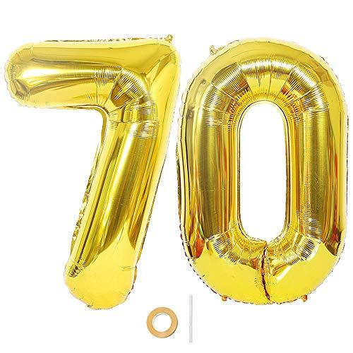 Ceqiny Digitaler Ballon Luftballons Nummer Zahl 70 Ballon Großer Folienballon in 40