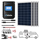 ACOPOWER 500 Watts 12/24 Volts Polycrystalline Panel Solar RV Kits with 40A MPPT LCD Charge Controller/Mounting Brackets/Y...