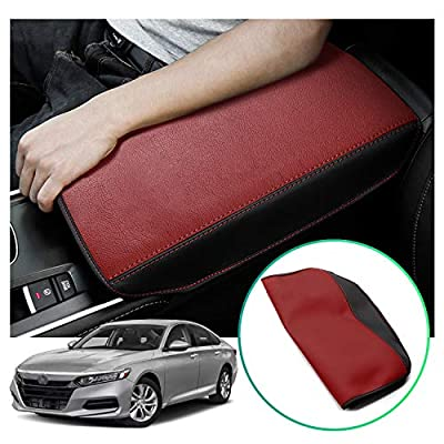 Accord Interior Accessories Armrest Cover Protector Compatible for Honda Accord 2018-2020,Keep Your Armrest in a More Comfortable Feeling. (Red Wear-Resistant)