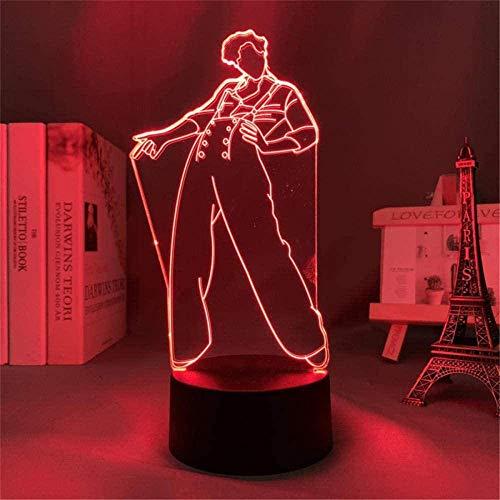 Harry & Styles Sleeplite luz nocturna para niños lámpara de ilusión 3D 16 colores cambio automático interruptor táctil escritorio regalo cumpleaños con control remoto