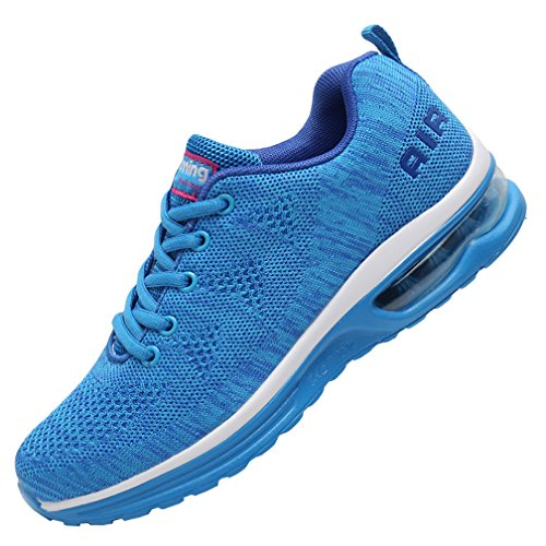 MEHOTO Womens Fashion Lightweight Tennis Walking Shoes Sport Air Fitness Gym Jogging Running Sneakers (SkyBlue US 7 B(M)