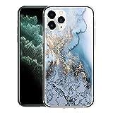ZhuoFan Carcasa transparente para Apple iPhone 5 / 5S [4 pulgadas] – Carcasa de silicona transparente con patrón estético – Ultra fina suave TPU carcasa compatible con iPhone 5S, mármol