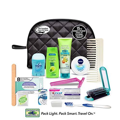 Convenience Kits International Women's Premium 15 PC Assembled Travel Kit: Featuring: Fructis Hair & Nivea Skin Products