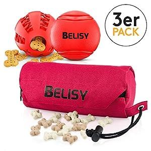 Balle pour chien Rouge 5/7cm + Dental Football 5/7cm + FutterDummy