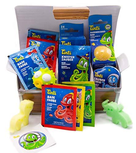 Tinti Badespaß tolle Truhe - 14 Spiel-, Spaß- und Pflegeprodukte für die Badewanne