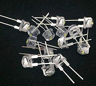 PGSA2Z® 8 mm LED Light-Emitting Diodes 0.5 W Lamp- Yellow Pack of 50