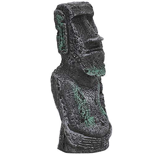 Estatua de Resina de la Isla de Pascua, Accesorio de Acuario de...