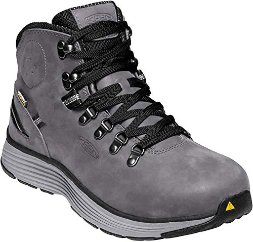 Keen Utility Men's Manchester 6' Alloy Toe Waterproof Work Boot Construction Shoe, Forged Iron/Black