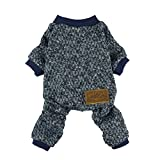 Fitwarm Knitted Thermal Pet Clothes for Dog Pajamas PJS Coat Jumpsuit Chihuahua Pomeranian, Medium
