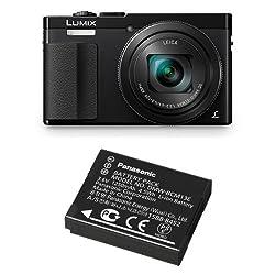 1 of Panasonic Lumix DMC-TZ70EB-K Compact Digital Camera - Black 1 of Panasonic DMW-BCM13E Li-Ion Battery