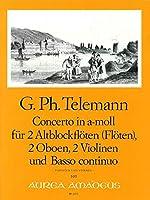 TELEMANN - Concierto en La menor (TWV:44/42) (Partitura/Partes)