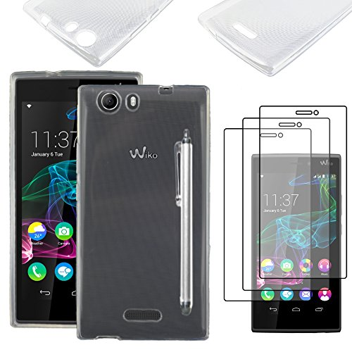 ebestStar - kompatibel mit Wiko Ridge 4G Hülle Handyhülle [Ultra Dünn], Premium Durchsichtige Klar TPU Schutzhülle, Soft Flex Silikon + Stift +3 Schutzfolies, Transparent [Phone: 143x72x7.5mm, 5.0'']