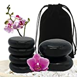 Basalt Massage Rocks, 6pcs Hot Stone for Massages Premium Set, Warmer Stones for Professional or Home Spa, Relaxing, Healing, Pain Relief