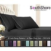 Southshore Fine Linens - Extra Deep Pocket Pleated Sheet Set
