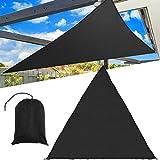 LaDicha 3/5M Extra Schwerlast Schattensegel Sonne Himmel Outdoors Dreieck Gartenmarkisen Sommer Auto Sonnenschirm - L