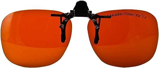 BIPEE YH-14C Clip-on Flip Up Laser Safety Glasses, 190~540&900~1700nm Multi-Wavelength, 60% VLT