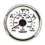 52 mm Car Water Temperature Gauge 40-120 Celsius Digital Thermometer Water Temp Gauge Ajustable 8-Color Backlight 9-32V for Car Boat