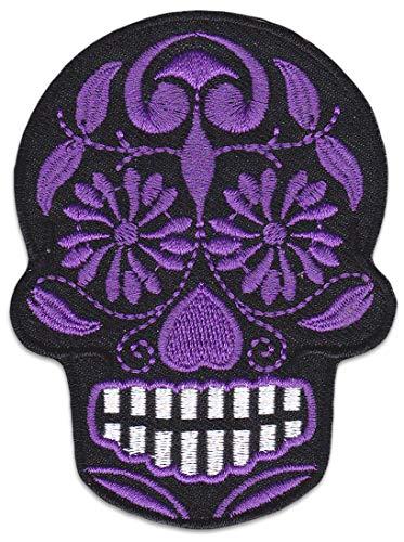 Tag Der Toten Aufnäher Aufbügler Patch Mexiko Totenkopf Bügelbild Rockabilly Greaser Latino