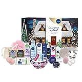 NIVEA Calendrier de l'Avent 2021, Coffret NIVEA contenant 24 must-have pour patienter jusqu'à Noël, Calendrier Noël avec produits cosmétiques et accessoires