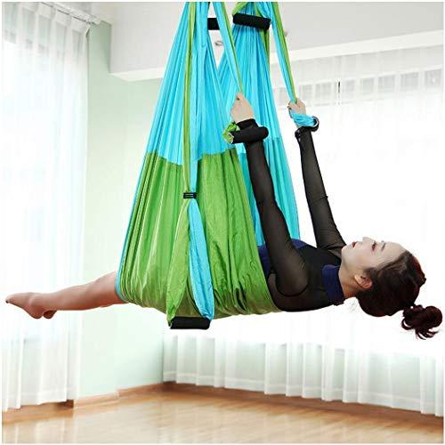YONGYONG-hammock Aerial Yoga-Hängematte ohne elastischen 6-Griff ultraleichtes Fallschirmtuch zur Farbanpassung (Color : Green)