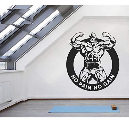 Hanzeze Naklejka ścienna winylowa usuwalna naklejka ścienna motywujące zwroty do fitnessu sportu styl życia sztuka dom plakat 57 x 63 cm