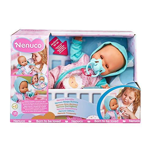 Nenuco - Dormilón, muñeca de bebé Que Duerme y Cierra los Ojos, con Chupete y Pijama, Juguete indicado para el Desarrollo afectivo y Emocional de niños y niñas de 1 año, Famosa (700016258)