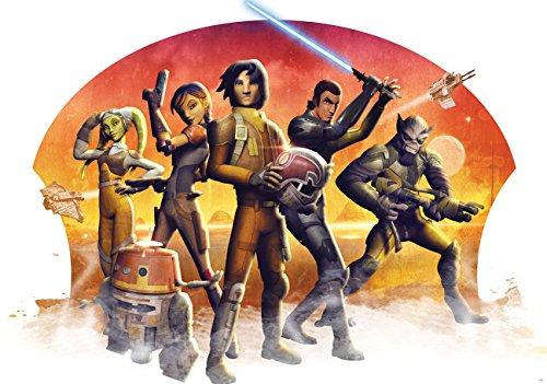 Disney Licence Star Wars 1613P8 wanddecoratie behang bestaat uit 4 panelen, 368,0 x 254,0 cm