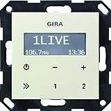 Gira 228401 - Radio RDS da incasso senza altoparlanti, Sistema 55, colore: Bianco crema...