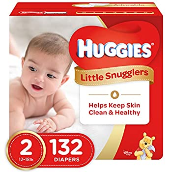 Huggies Little Snugglers Baby Diapers Size 2 132 Count GIANT PACK  Packaging May Vary
