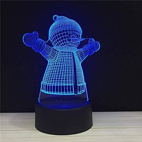 3D Illusion Night Light bluetooth smart Control 7 e 16M App mobile a colori Led Vision Camera da letto Merry Music Babbo Natale Pupazzo di neve disponibile negozio Modalità 3 in 1 Sc per bambini