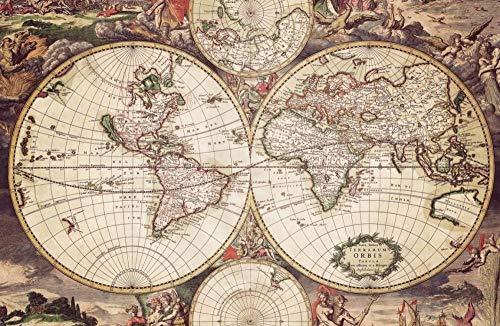 Puzzle 500 Piezas para Adultos,Rompecabezas - Mapa de la Tierra Vieja - Niños y Adultos Alivia el estrés ,Juego Adulto