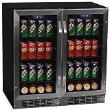 Edgestar 160 Can 30' Built-In Side-by-Side Beverage Cooler