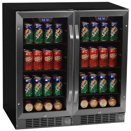 "Edgestar 160 Can 30"" Built-In Side-by-Side Beverage Cooler"