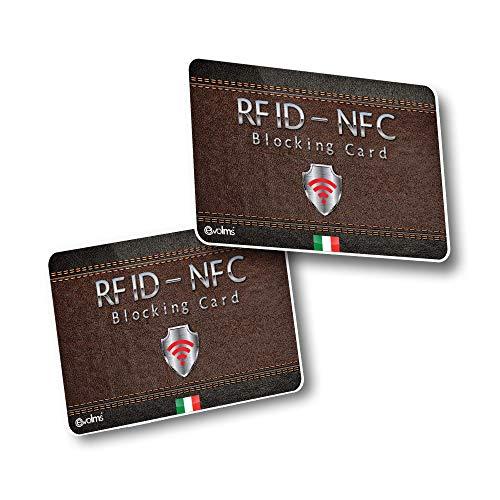 X2 RFID & NFC Blocker Anti Scan - Tarjeta Bloqueo RFID para Tarjetas de Crédito y Débito – Lock Protección RFID NFC Adios a Las Fundas - Una Sola Tarjeta Protege tu Cartera, Pasaporte