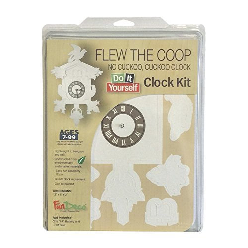 Fundeco Cuckoo Clock Craft Kit, White