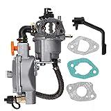 Zreneyfex Carburetor Dual Fuel Carb Conversion Kits Replacemant for Tonco Generator GX200 170F 170G-GX200
