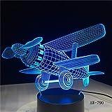 Segelflugzeug Kleine Neujahr Nachtlicht 3D LED USB Tischlampe Kinder Geburtstagsgeschenk Nachtzimmer Dekoration