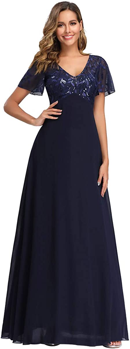 Ever-Pretty Women's A-Line Sweetheart Illusion Embroidered Maxi Party Evening Dress 7706