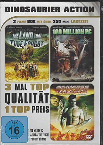 DINOSAURIER ACTION -3 Filme Box - The Land that time forgot - 100 Million BC - Princess of Mars