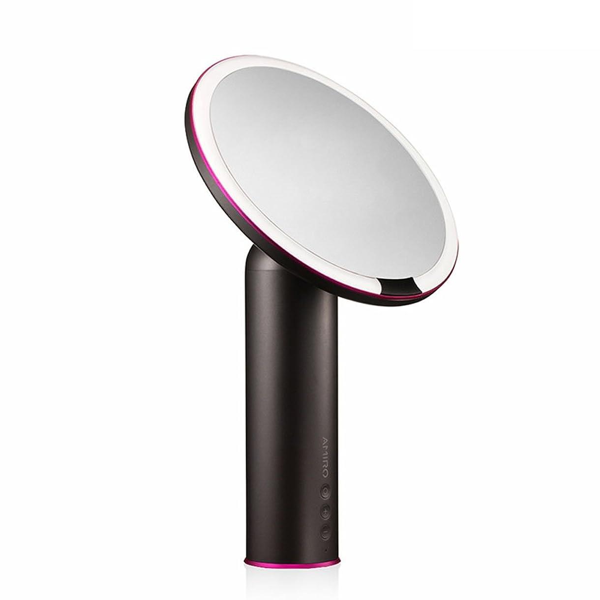 不利想像力豊かな経由でAMIRO LED化粧鏡 人感センサー付き 化粧ミラー LEDライト付き 卓上鏡 女優ミラー 3段階明るさ調節可能 コードレス 充電式