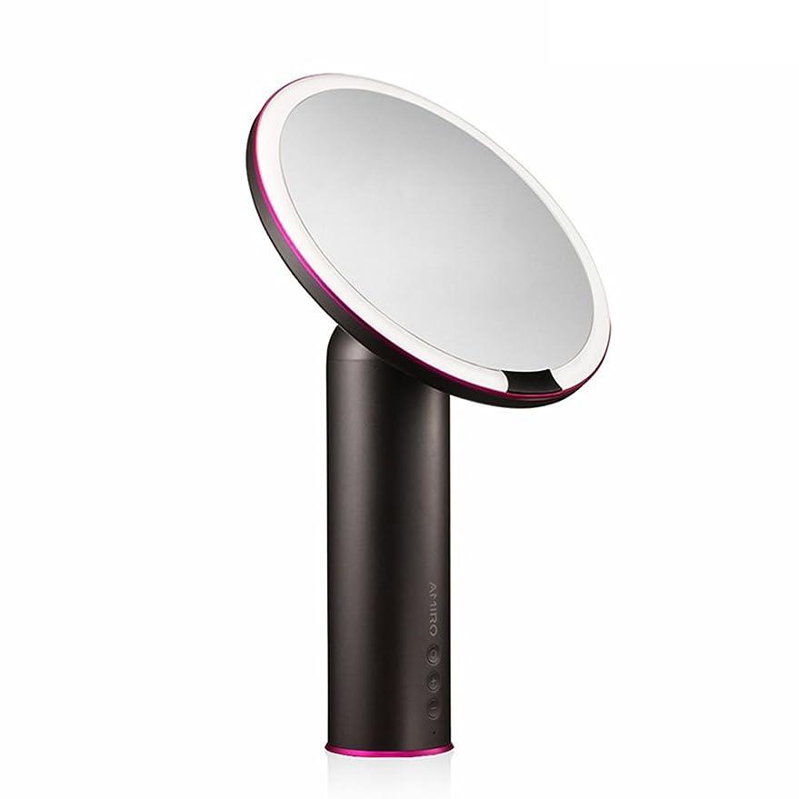 もの補う踏みつけAMIRO センサー化粧鏡 化粧ミラー LEDライト付き 卓上鏡 女優ミラー 3段階明るさ調節可能 コードレス 充電式