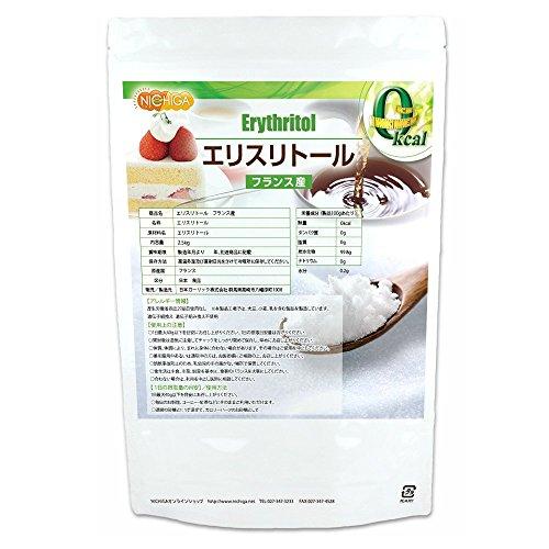フランス産 エリスリトール2.5kg 遺伝子組み換え材料不使用 カロリーゼロ 希少糖 糖質制限 天然甘味料 砂糖代替甘味料 NICHIGA(ニチガ)