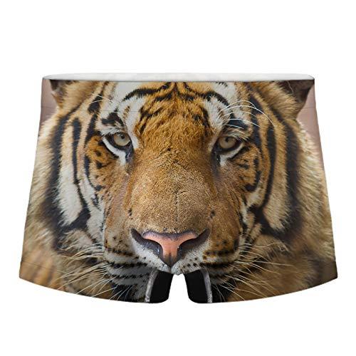 Q&M Teenager Unterhosen Sexy 3D Tiger Drucken Boxershorts Hipster Bequeme Shorts